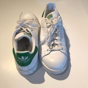Adidas Stan Smith White & Green Sneakers